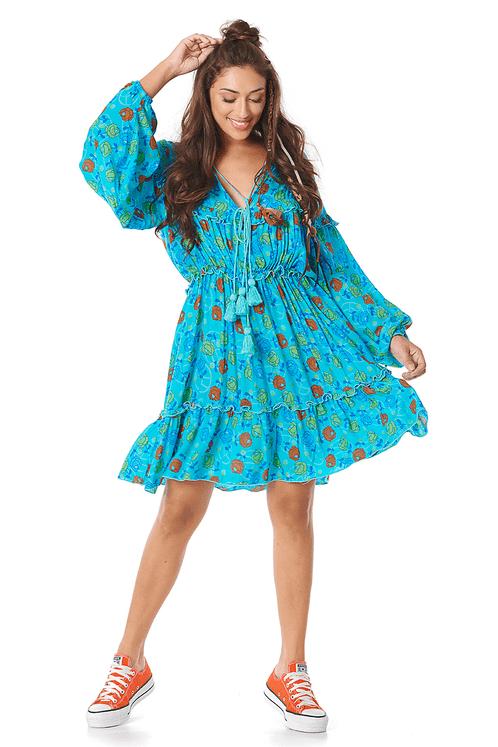 Vestido-Curto-Azul-Estampado-Yacamim-frente