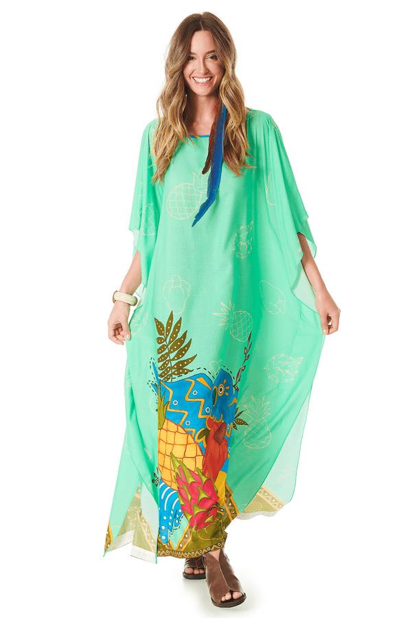 Kaftan-longo-verde-tropical-yacamim-frente