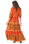 Vestido-longo-laranja-patchwork-yacamim-costas