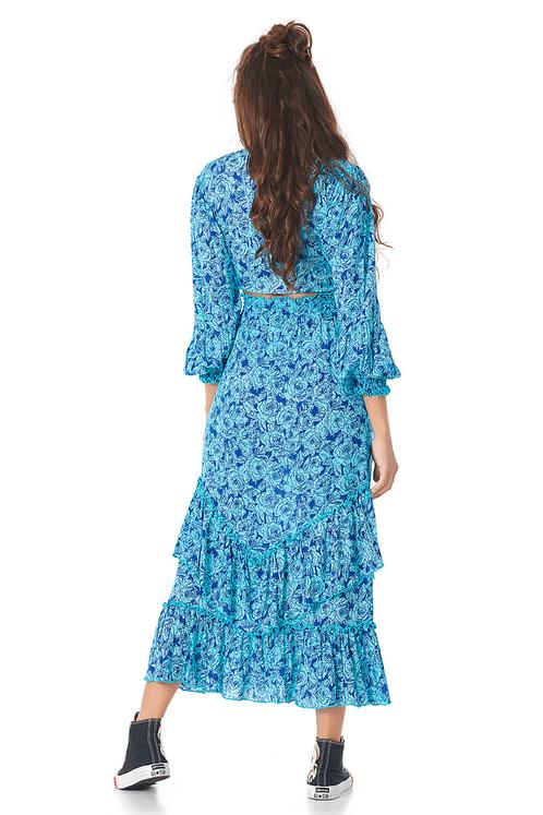 Saia-Midi-Azul-estampada-costas