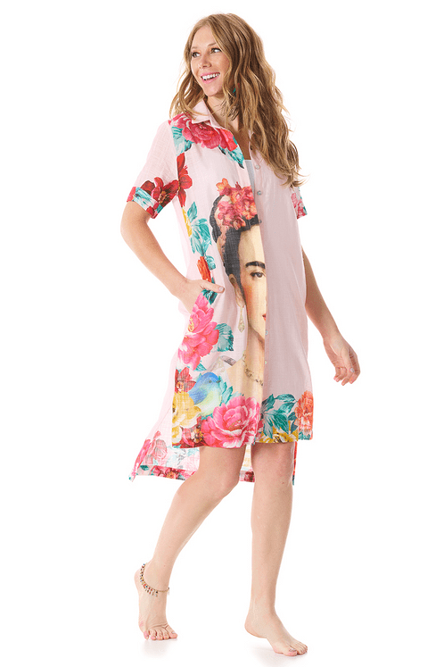 chemise-frida-kahlo-rosa-yacamim-frente