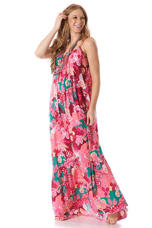 Vestido-Longo-Rosa-Estampado-yacamim-frente
